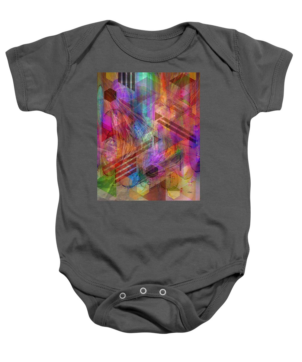 Magnetic Abstraction Baby Onesie featuring the digital art Magnetic Abstraction by Studio B Prints