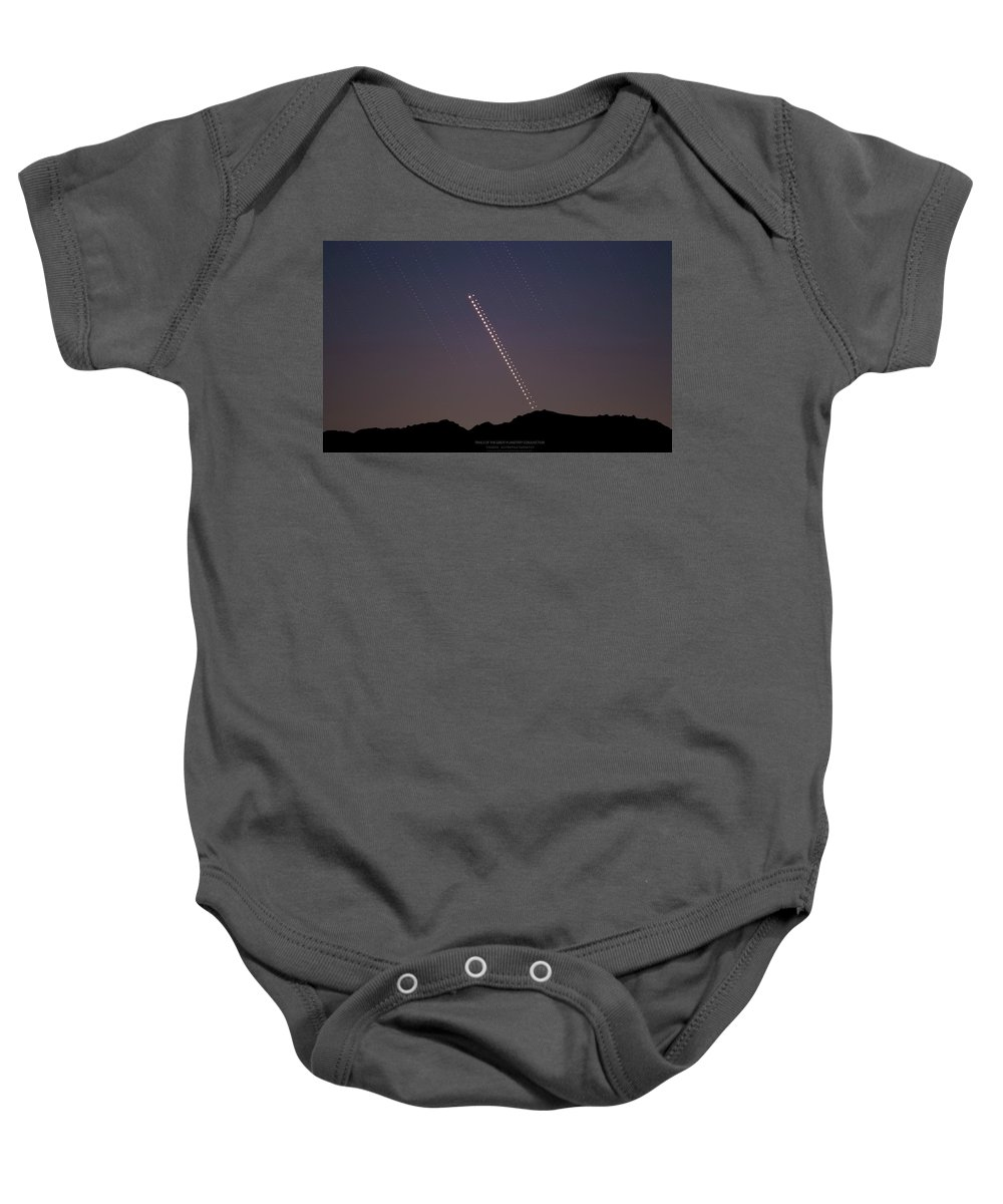 Baby Onesie featuring the photograph Trails of the Great Planetary Conjunction by Prabhu Astrophotography