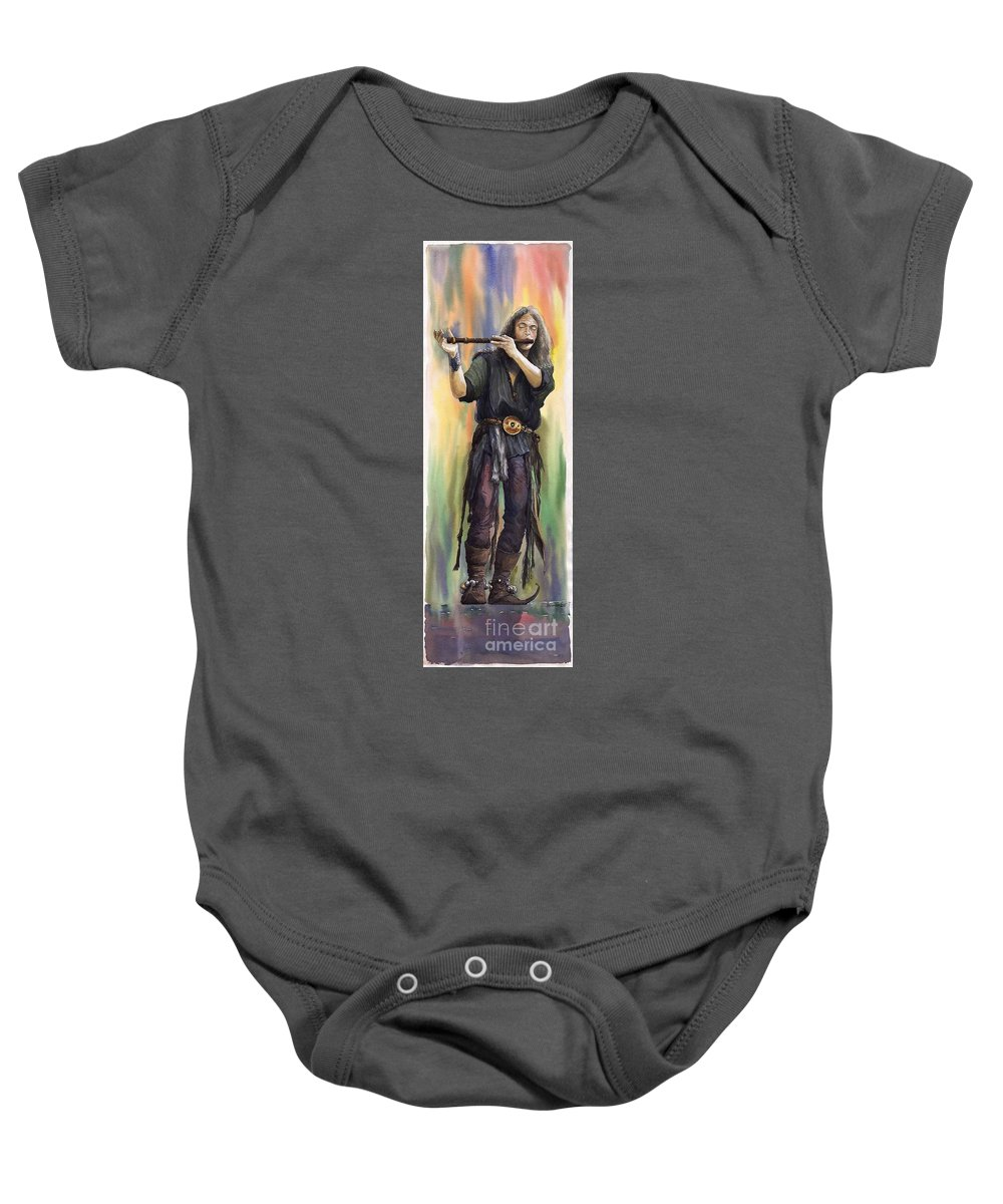 Instrument Baby Onesie featuring the painting Varius Coloribus The Morning Song Nils by Yuriy Shevchuk