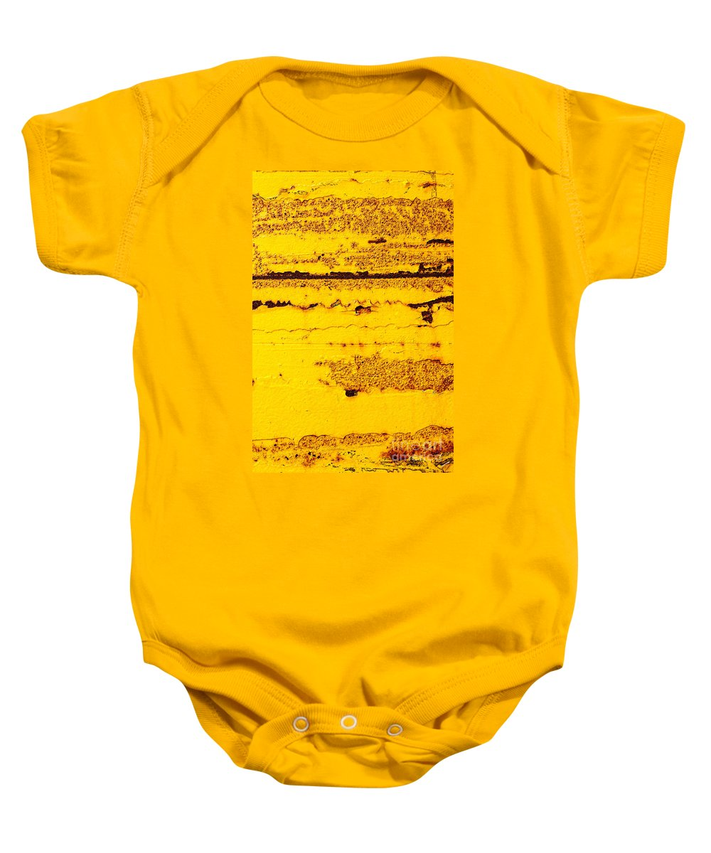 Abstract Baby Onesie featuring the photograph Abstracted In Ochre by Mary Smyth