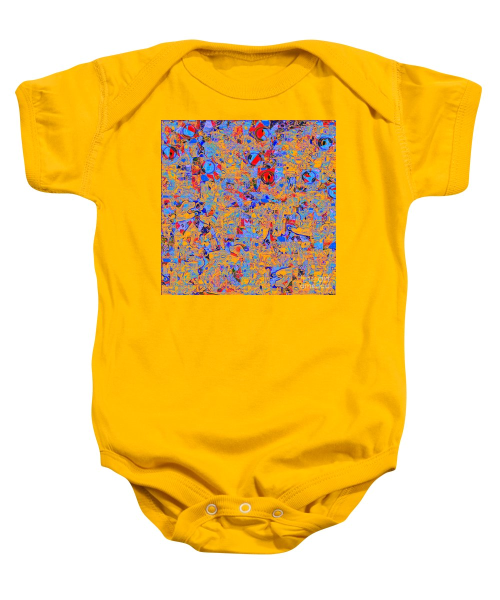 Abstract Baby Onesie featuring the digital art 0930 Abstract Thought by Chowdary V Arikatla
