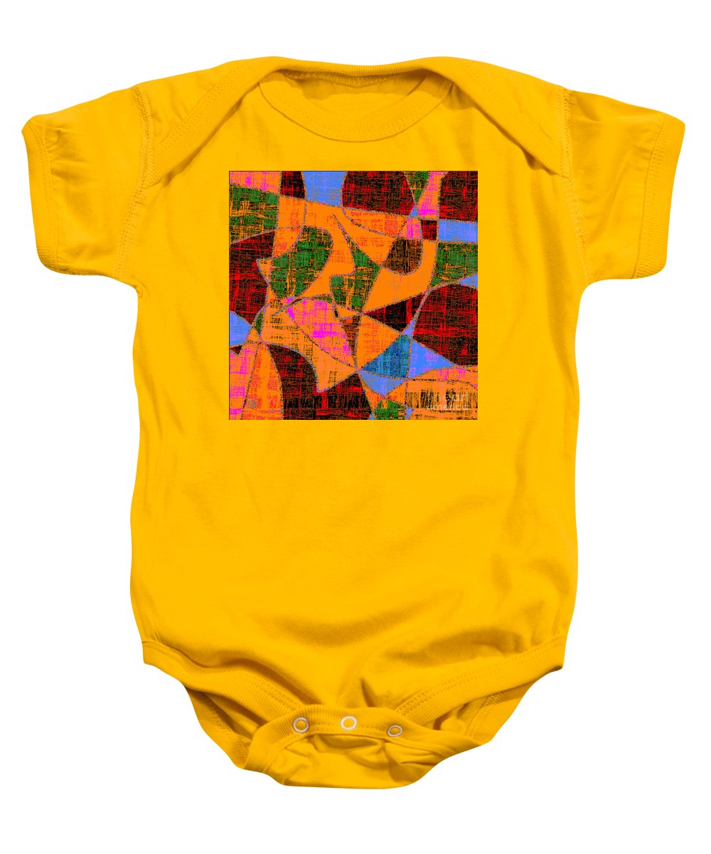 Abstract Baby Onesie featuring the digital art 0267 Abstract Thought by Chowdary V Arikatla