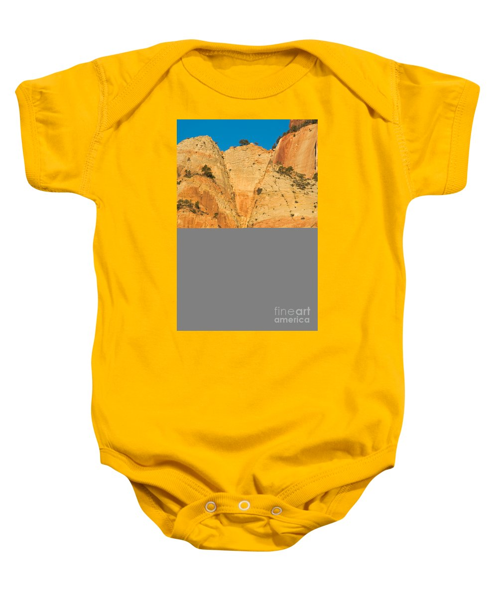 Autumn Baby Onesie featuring the photograph Dawn At Bridge Mountain by Fred Stearns