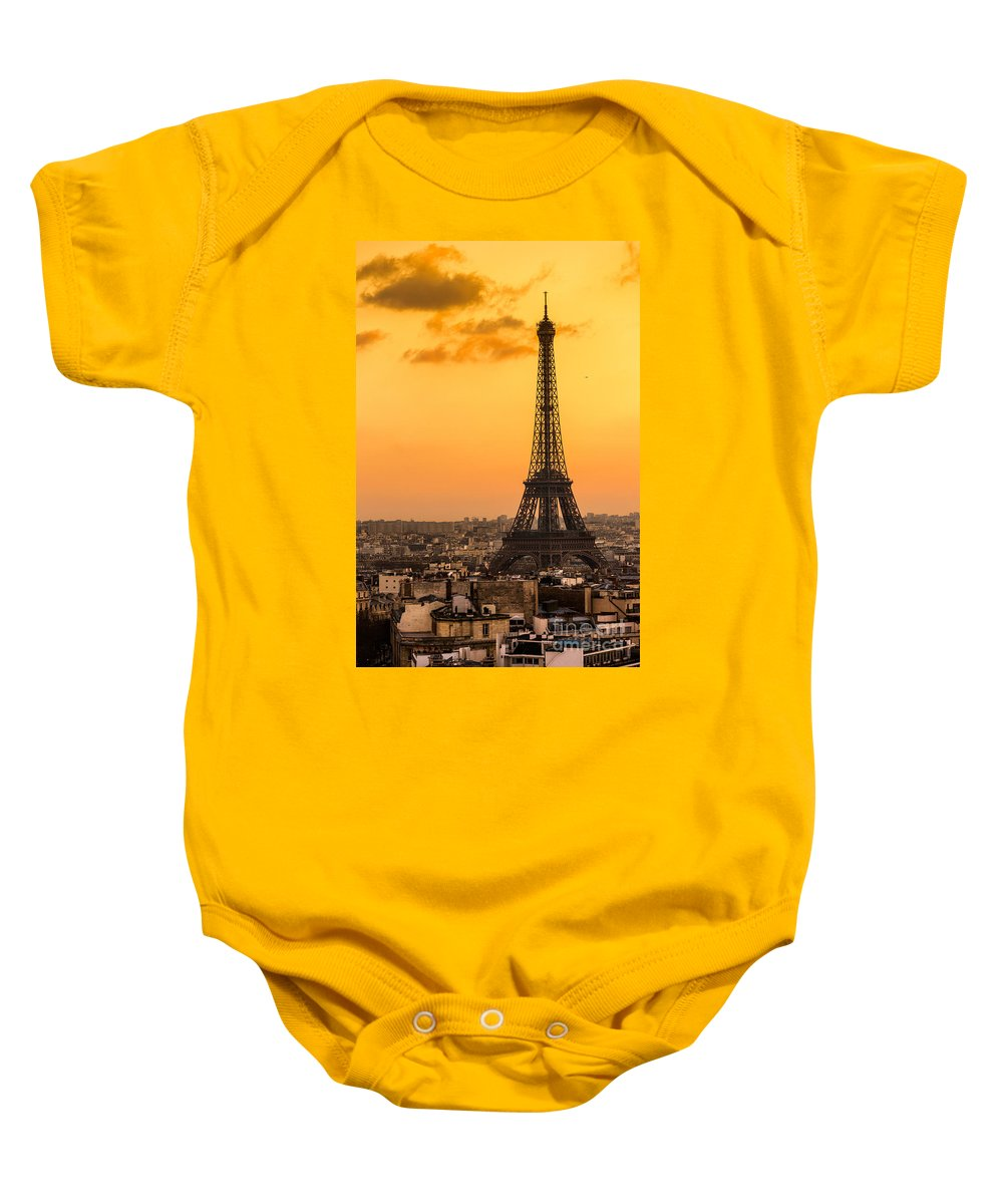 Ancient Baby Onesie featuring the photograph Eiffel Tower At Sunrise - Paris by Luciano Mortula