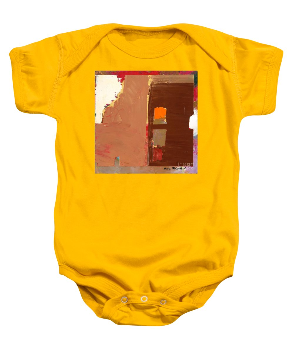 Landscape Baby Onesie featuring the painting Jordan Park 512 by Allan P Friedlander