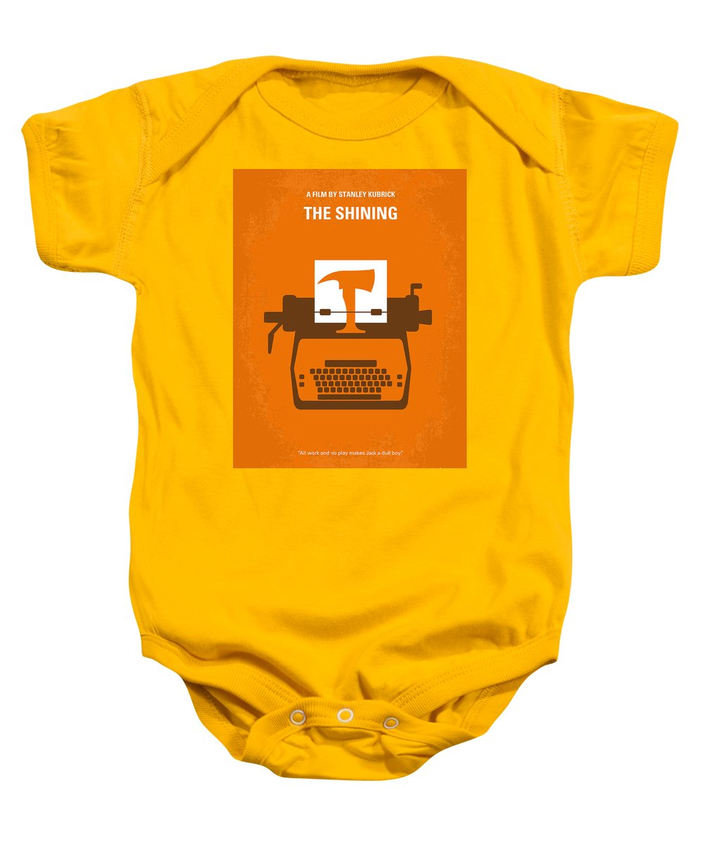The Baby Onesie featuring the digital art No094 My The Shining Minimal Movie Poster by Chungkong Art