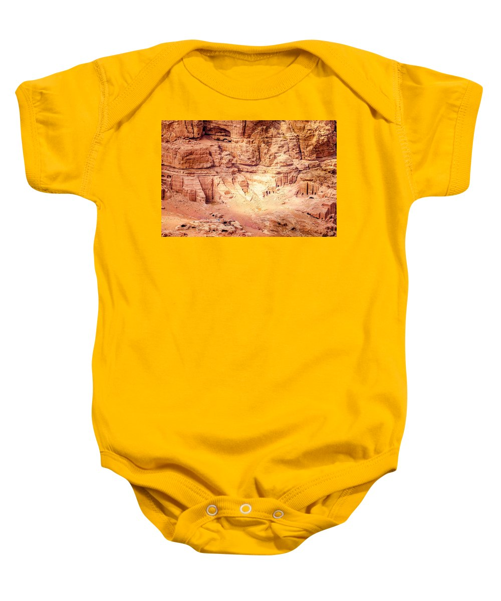 Petra Baby Onesie featuring the photograph Petra by Alexey Stiop