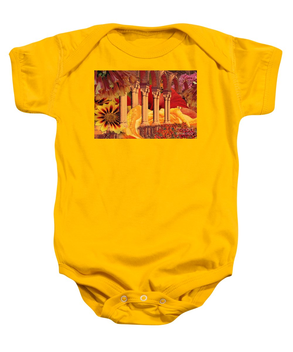 Columns Baby Onesie featuring the digital art Seville by Paul Gentille