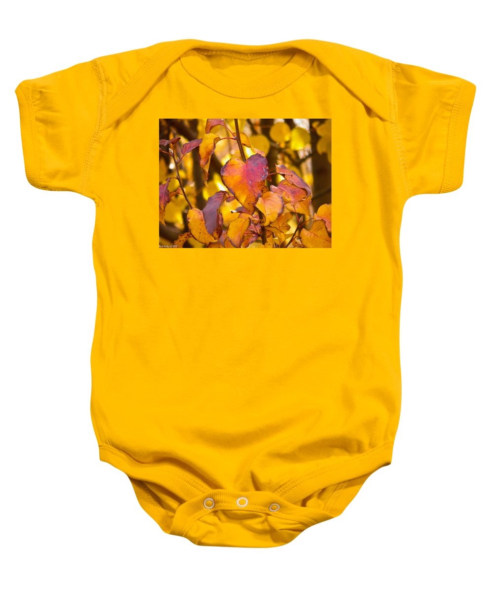 Autumn Baby Onesie featuring the photograph The Heart Of Fall by Nick Kirby