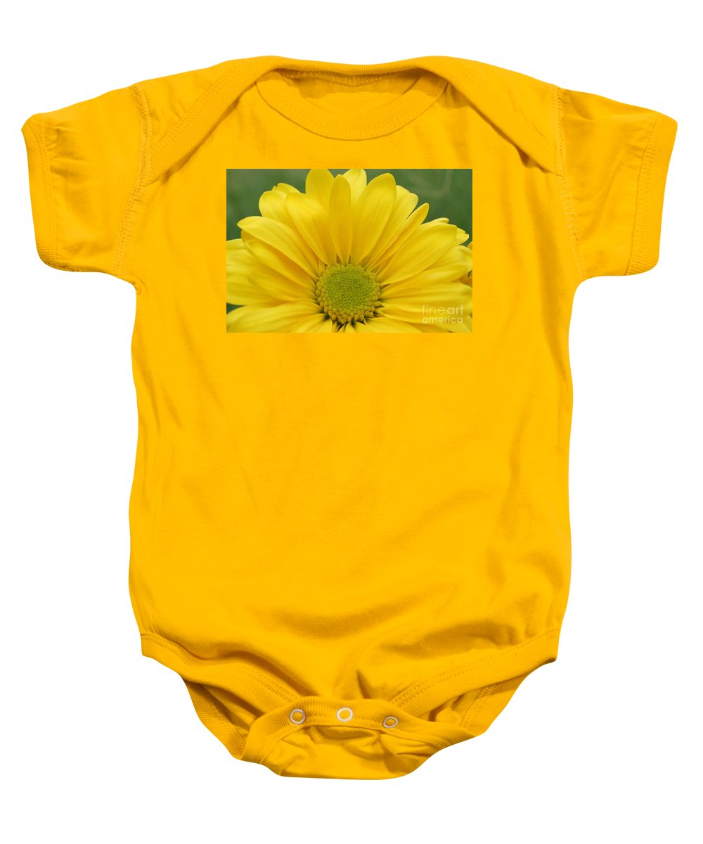 Flower Baby Onesie featuring the photograph Yellow Softness by Kerri Mortenson