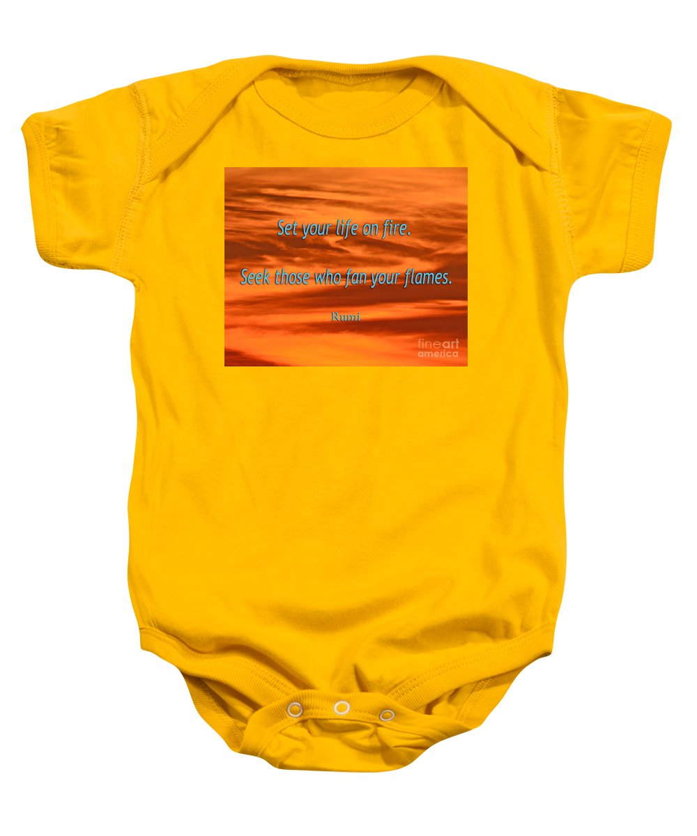 Baby Onesie featuring the photograph 120- Rumi by Joseph Keane