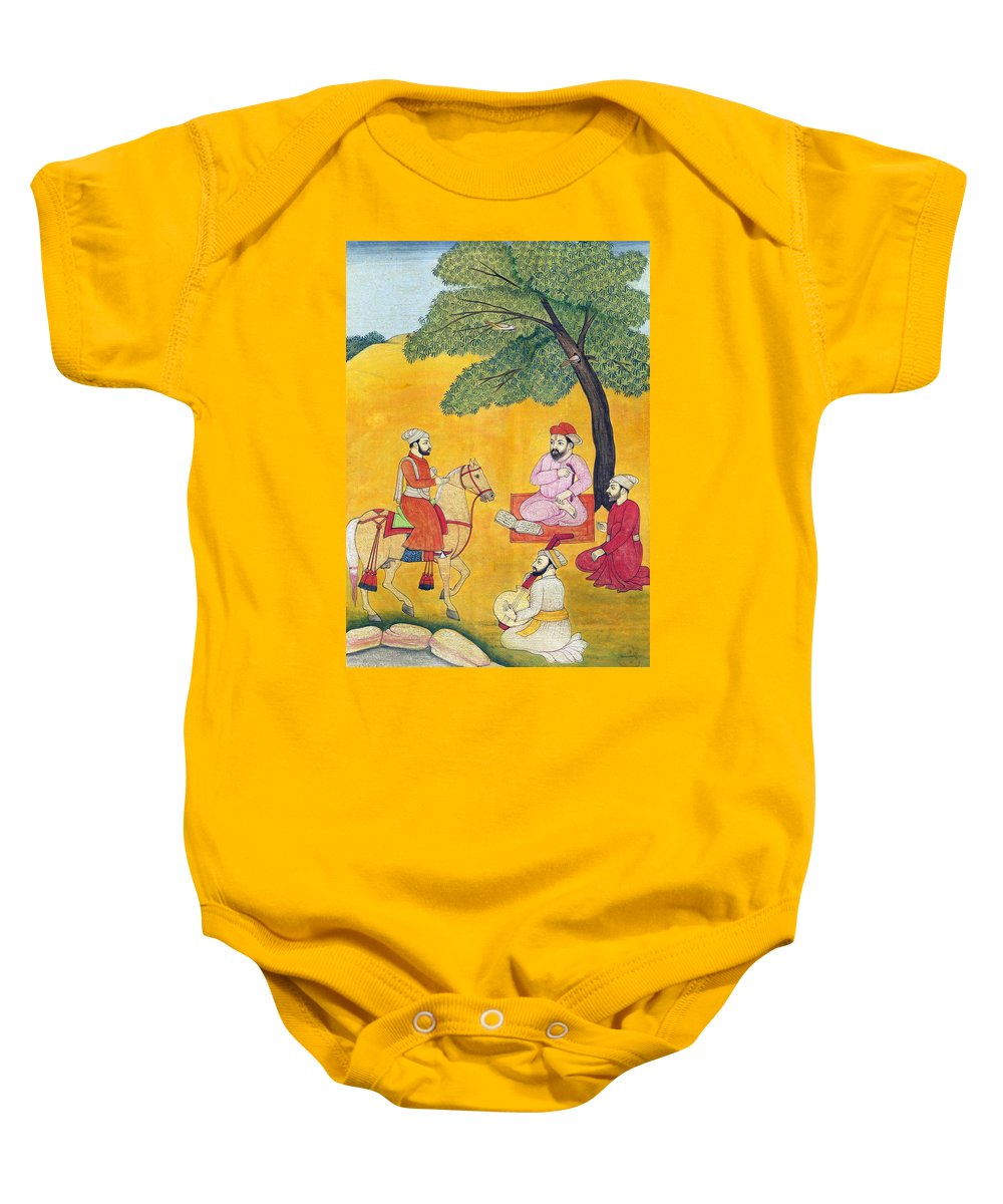 Sikh Baby Onesie featuring the photograph 18th Century Picnic by Munir Alawi