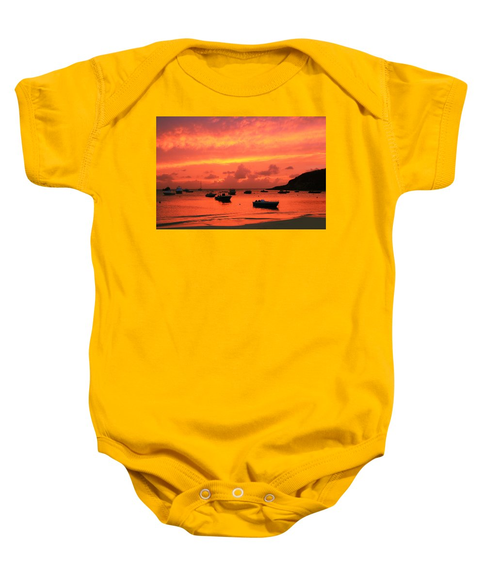 After Sunset Baby Onesie featuring the photograph After Sunset by Roupen Baker