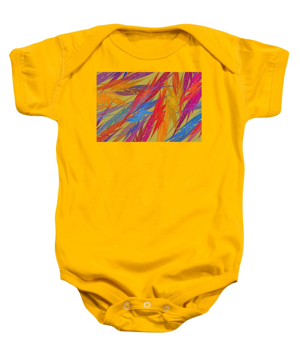 Translucent Baby Onesie featuring the photograph Computer Generated Abstract Fractal Flame by Keith Webber Jr