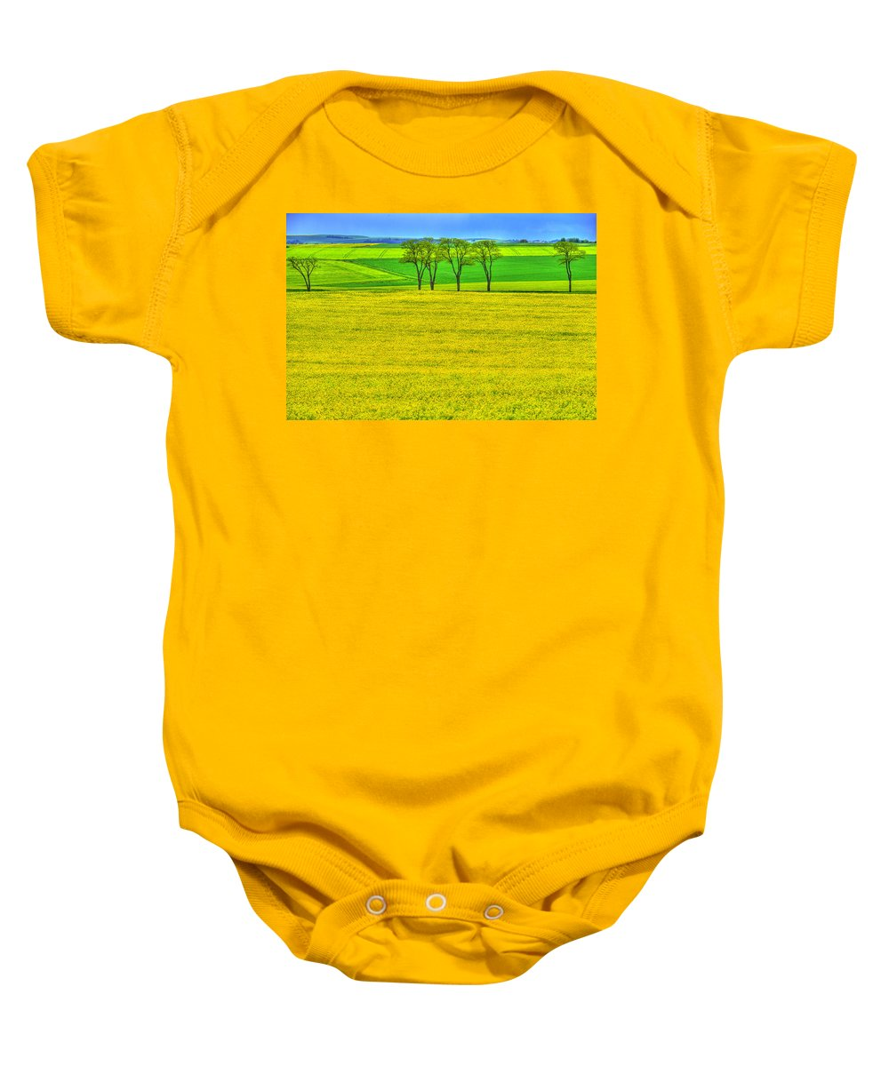 France Baby Onesie featuring the photograph Fields Of Dreams by Midori Chan
