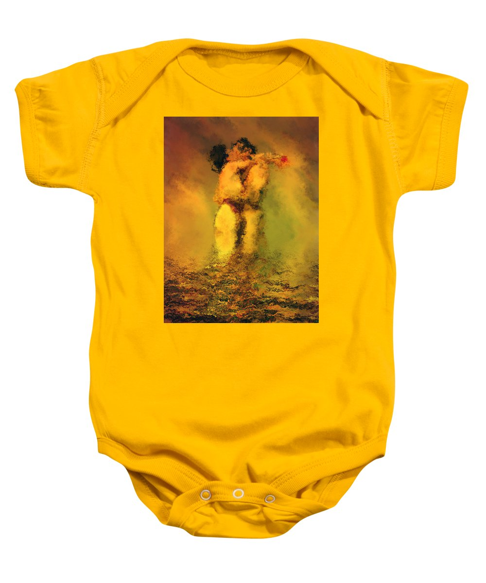 Nudes Baby Onesie featuring the photograph Lovers by Kurt Van Wagner