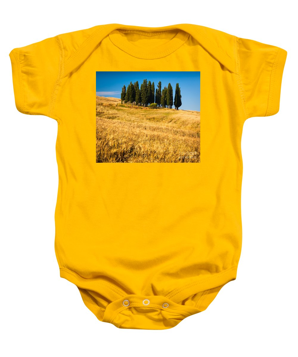 Europe Baby Onesie featuring the photograph San Quirico D'orcia by Inge Johnsson