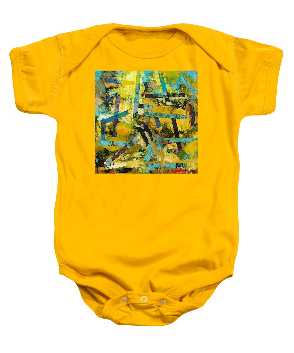Landscape Baby Onesie featuring the painting Sweet Swanee by Allan P Friedlander