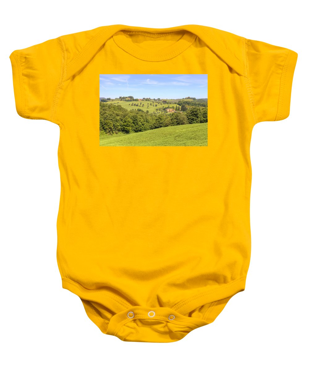Montepulciano Baby Onesie featuring the photograph Tuscany - Montepulciano by Joana Kruse