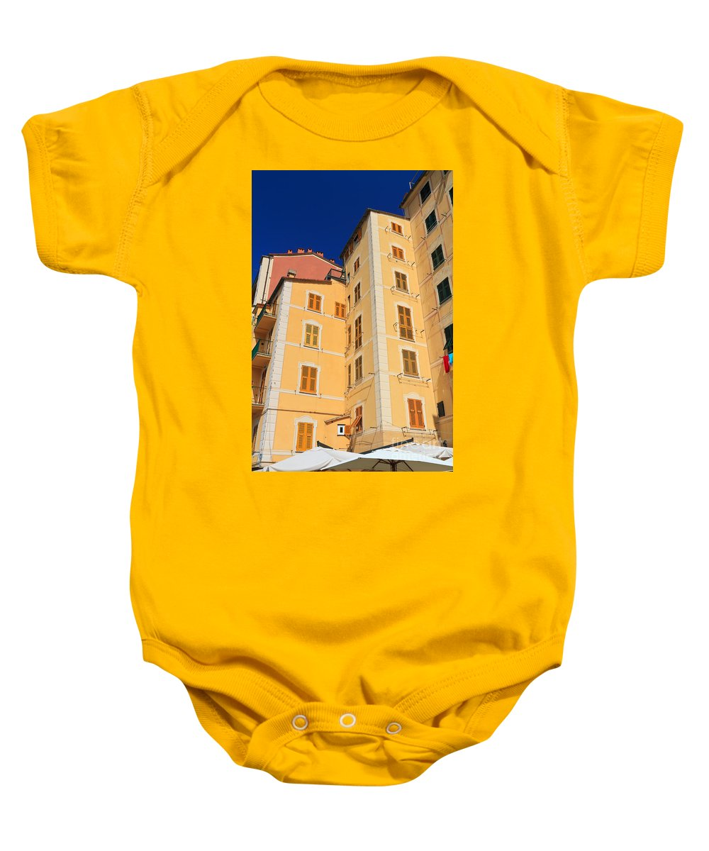 Ancient Baby Onesie featuring the photograph Camogli - Italy by Antonio Scarpi