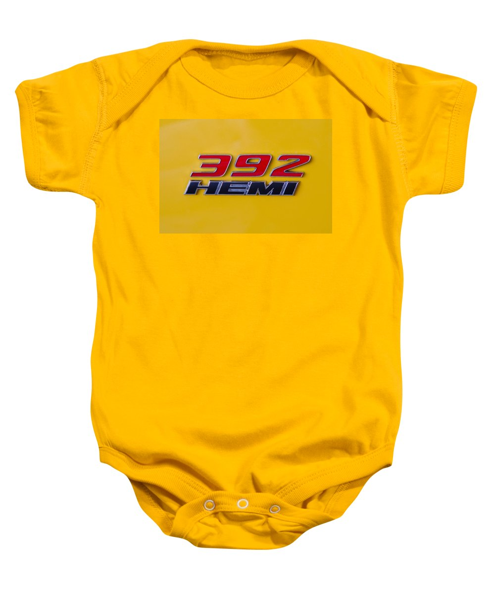 392 Hemi Baby Onesie featuring the photograph 392 Hemi In Yellow by Guy Whiteley