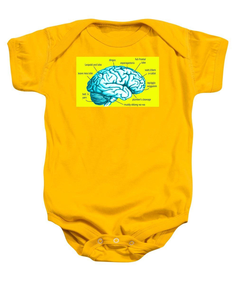 Gray Matter Baby Onesie featuring the digital art Learn About Your Brain by Del Gaizo