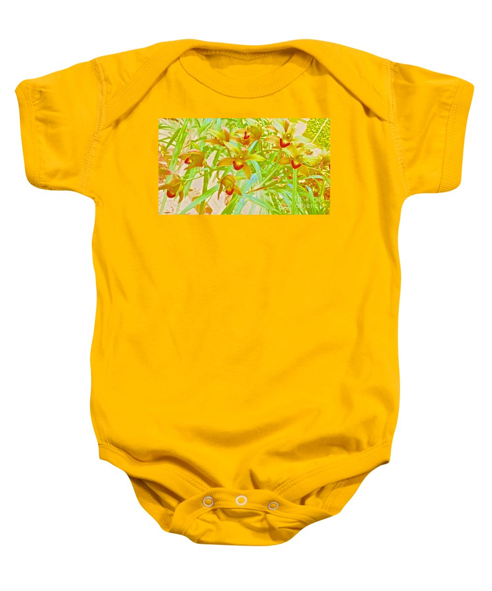 Maui Baby Onesie featuring the photograph Laughing Girls Watercolor Photography by Cheryl Cutler
