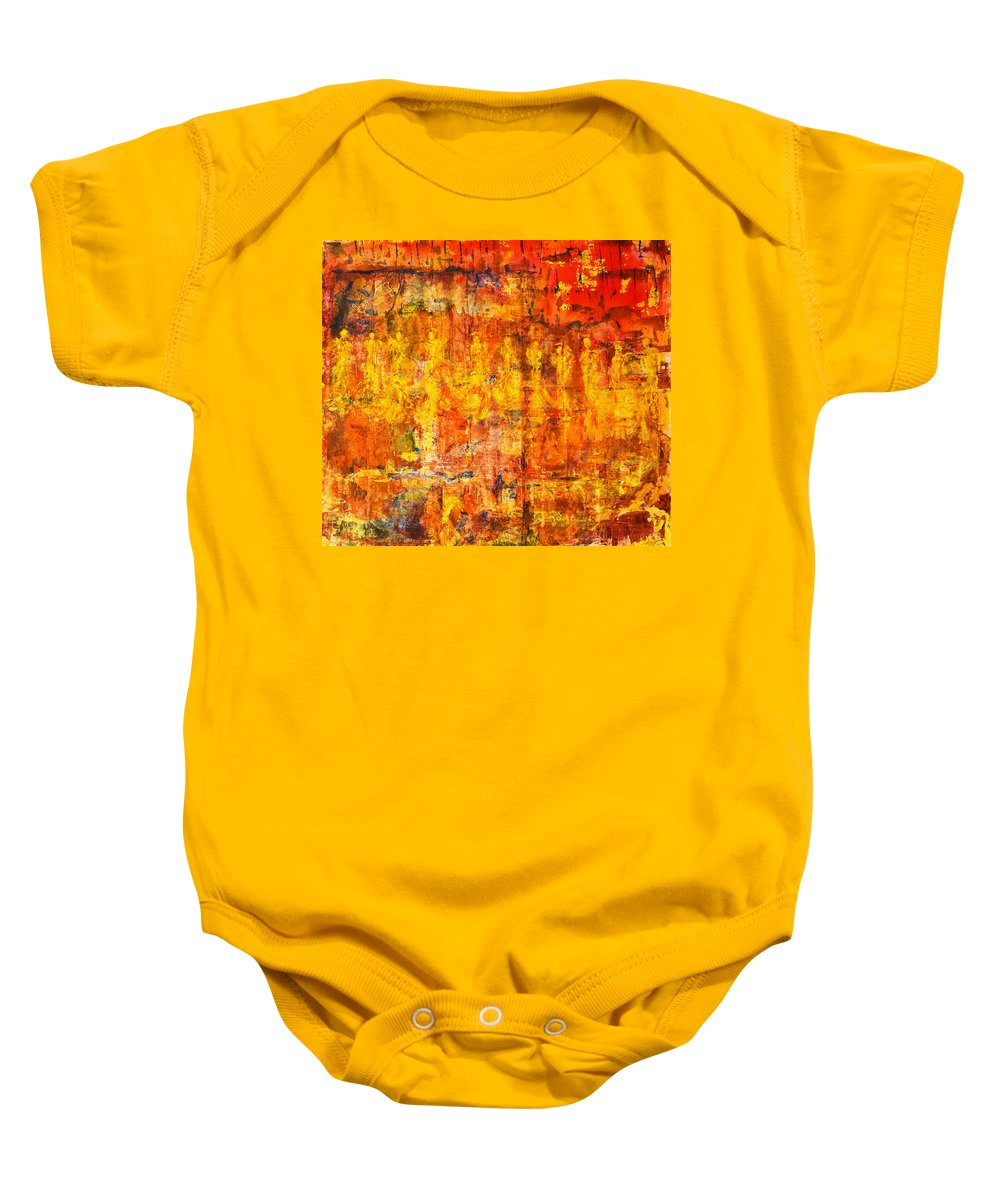 Angels Baby Onesie featuring the painting A Sunset Of Angels by Giorgio Tuscani