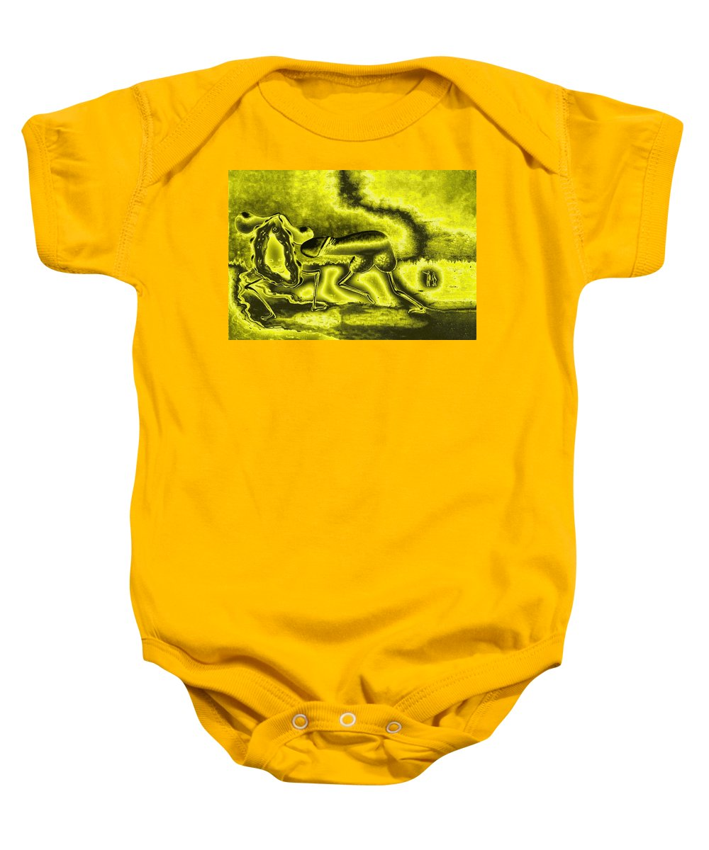 Genio Baby Onesie featuring the mixed media A Virile Sunny Day by Genio GgXpress