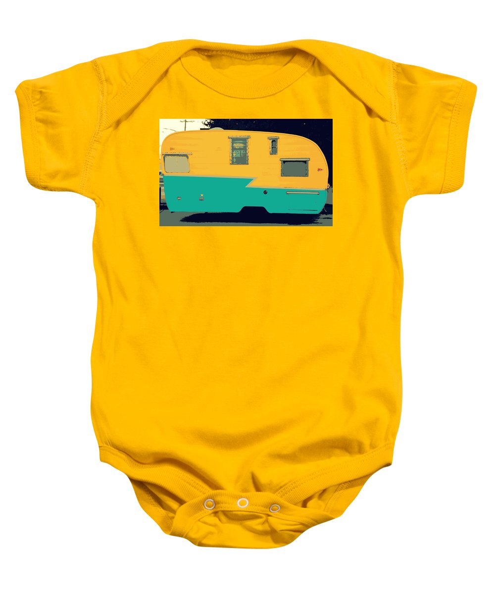 American Camper Series No.4 Baby Onesie featuring the photograph American Camper Series No.4 by Ed Smith