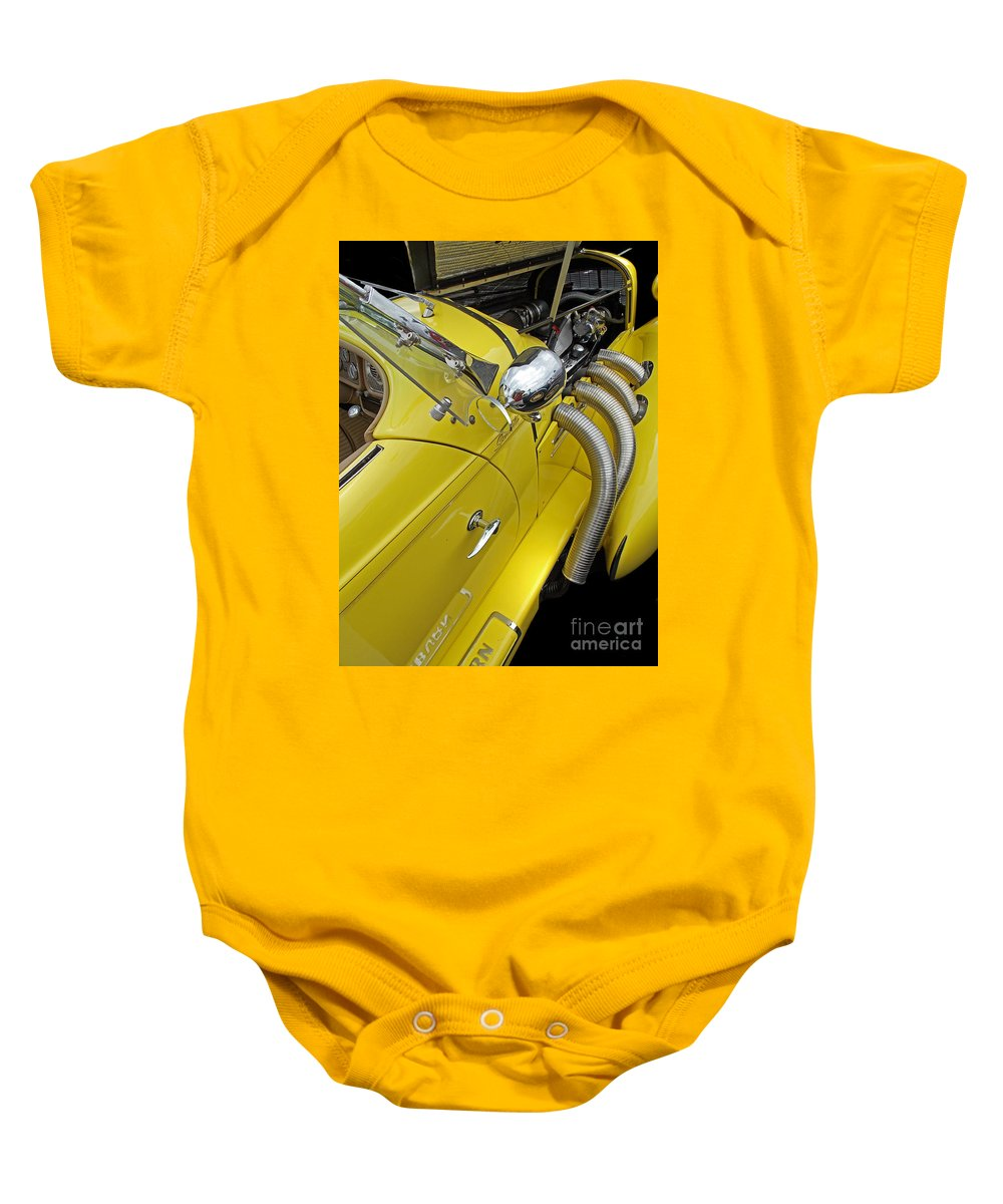 Scenic Tours Baby Onesie featuring the photograph Auburn Roadster by Skip Willits
