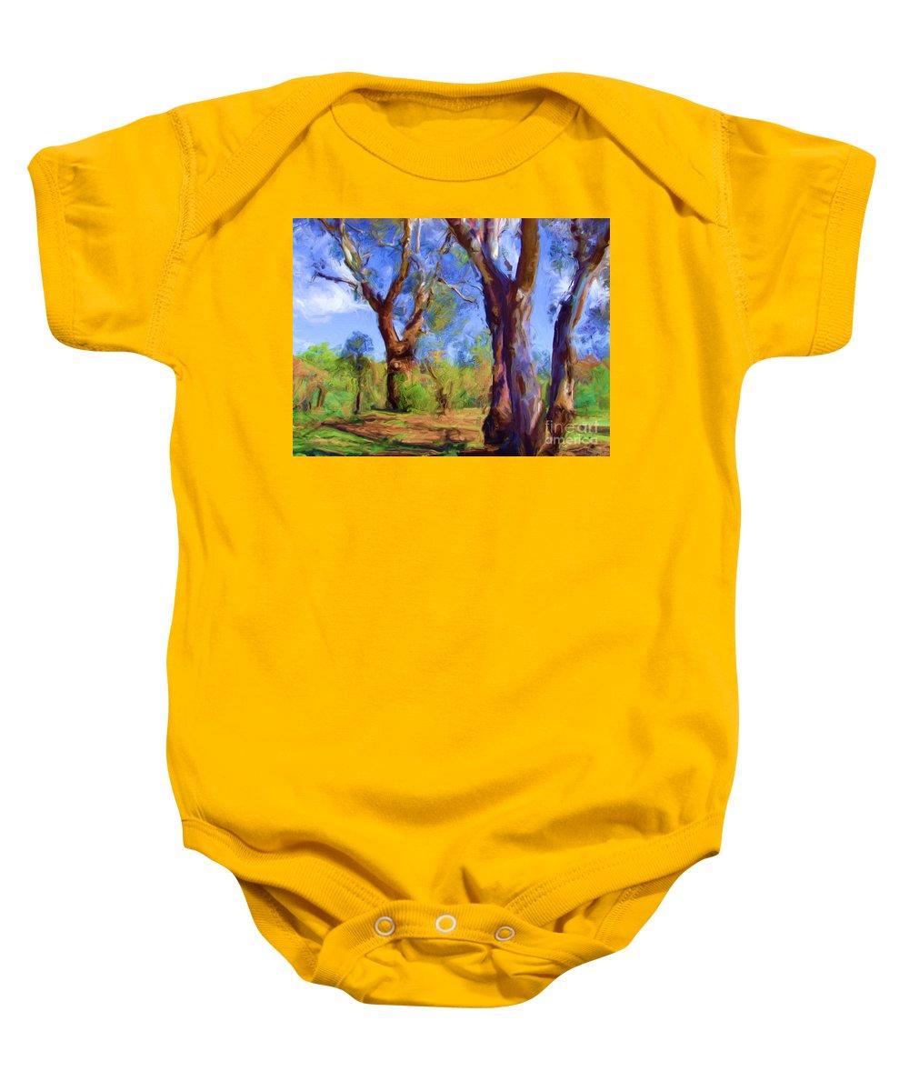Australia Baby Onesie featuring the digital art Australian Native Tree 2 by Russell Kightley