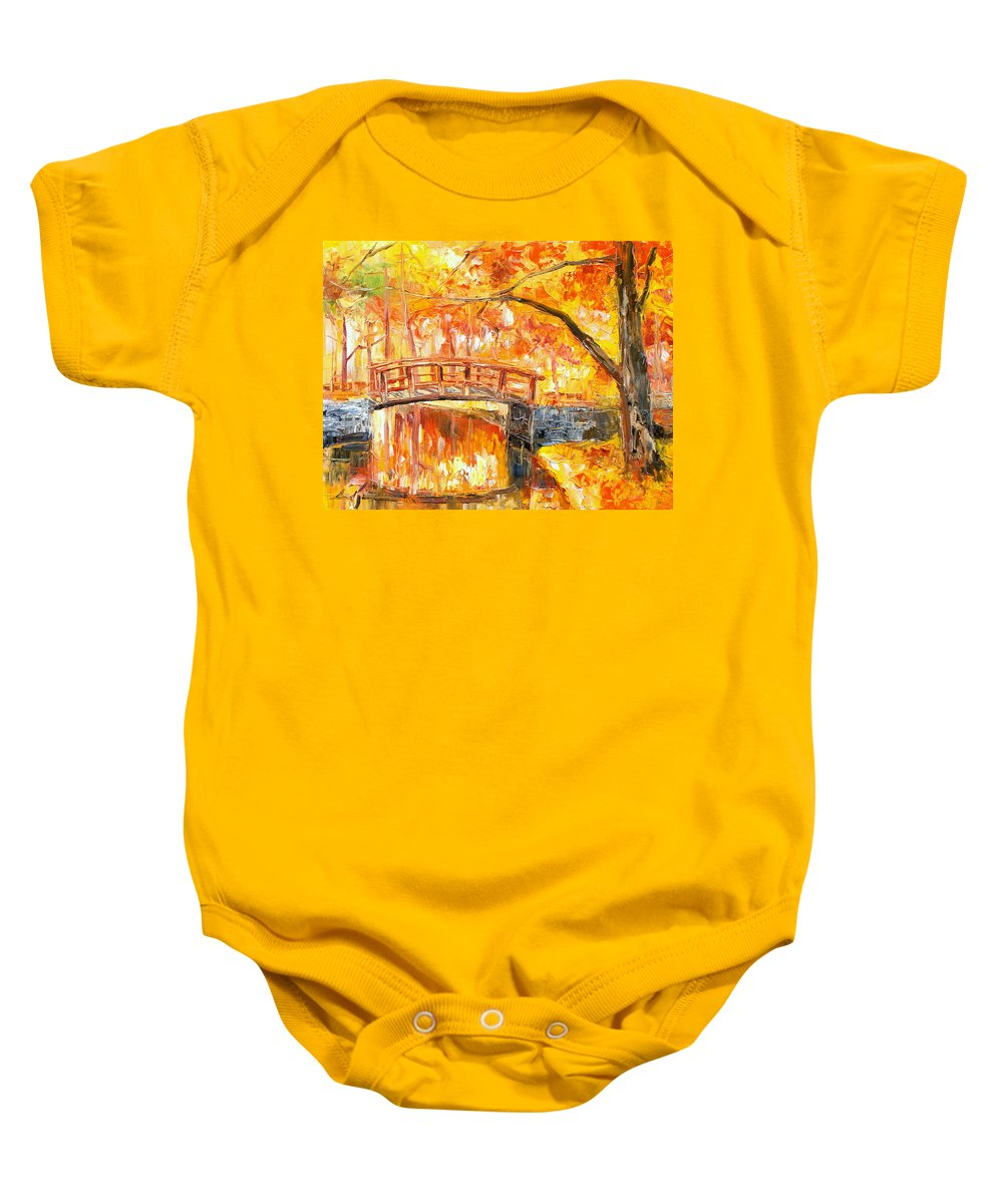 Autumn Baby Onesie featuring the painting Autumn Impression by Luke Karcz