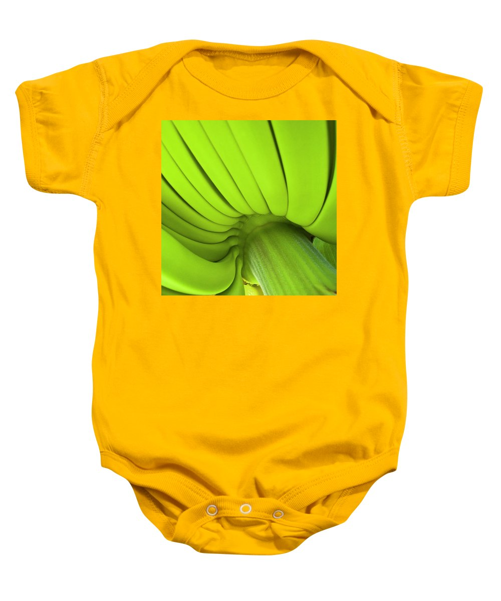 Nature Baby Onesie featuring the photograph Banana Bunch by Heiko Koehrer-Wagner