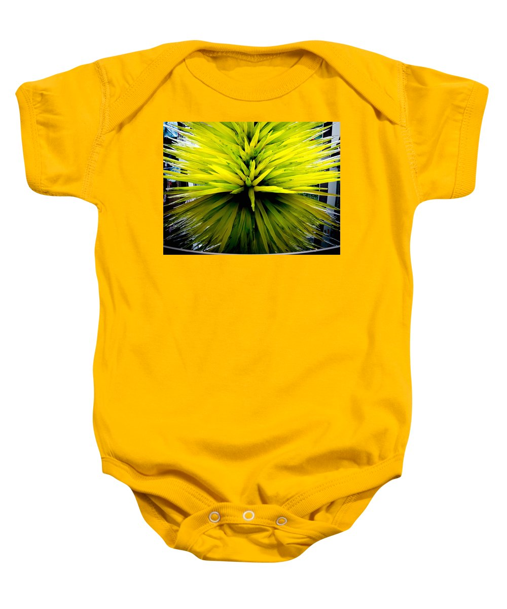 Asian Baby Onesie featuring the photograph Being Green by Greg Fortier