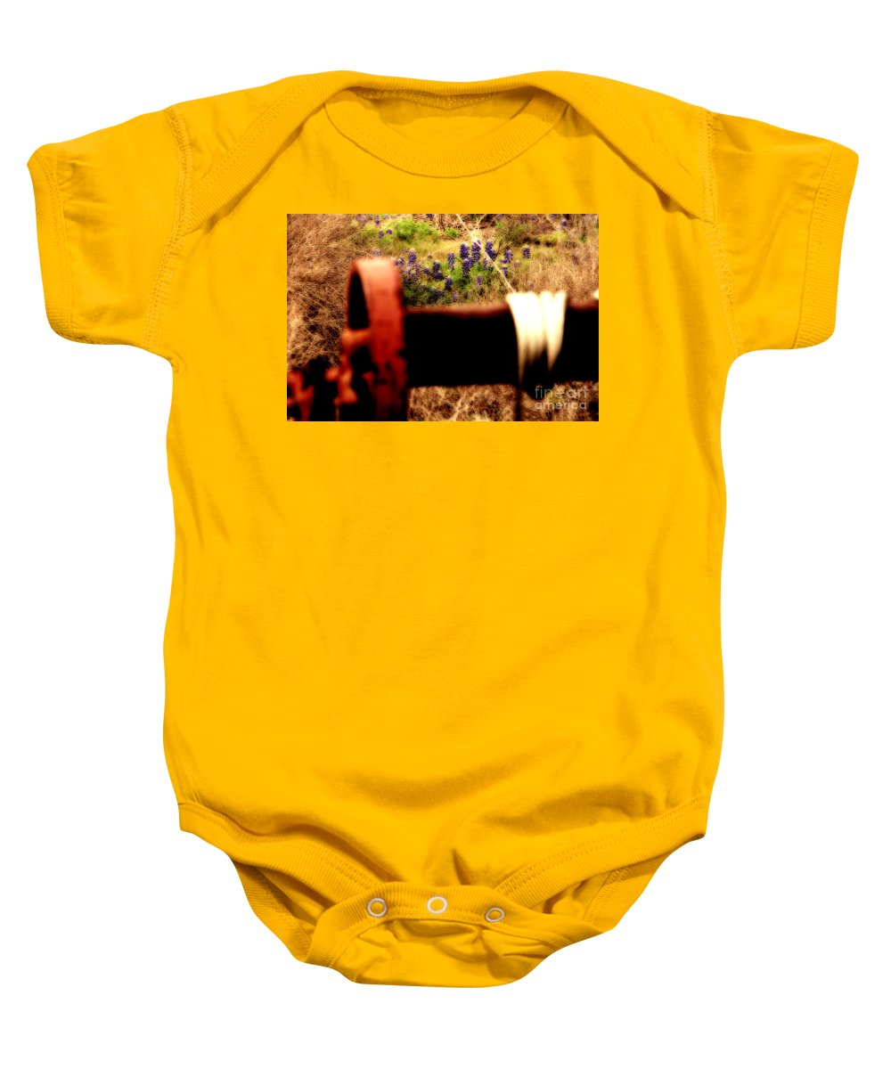 Wildflowers Baby Onesie featuring the photograph Blue Bonnet Winch by Douglas Barnard