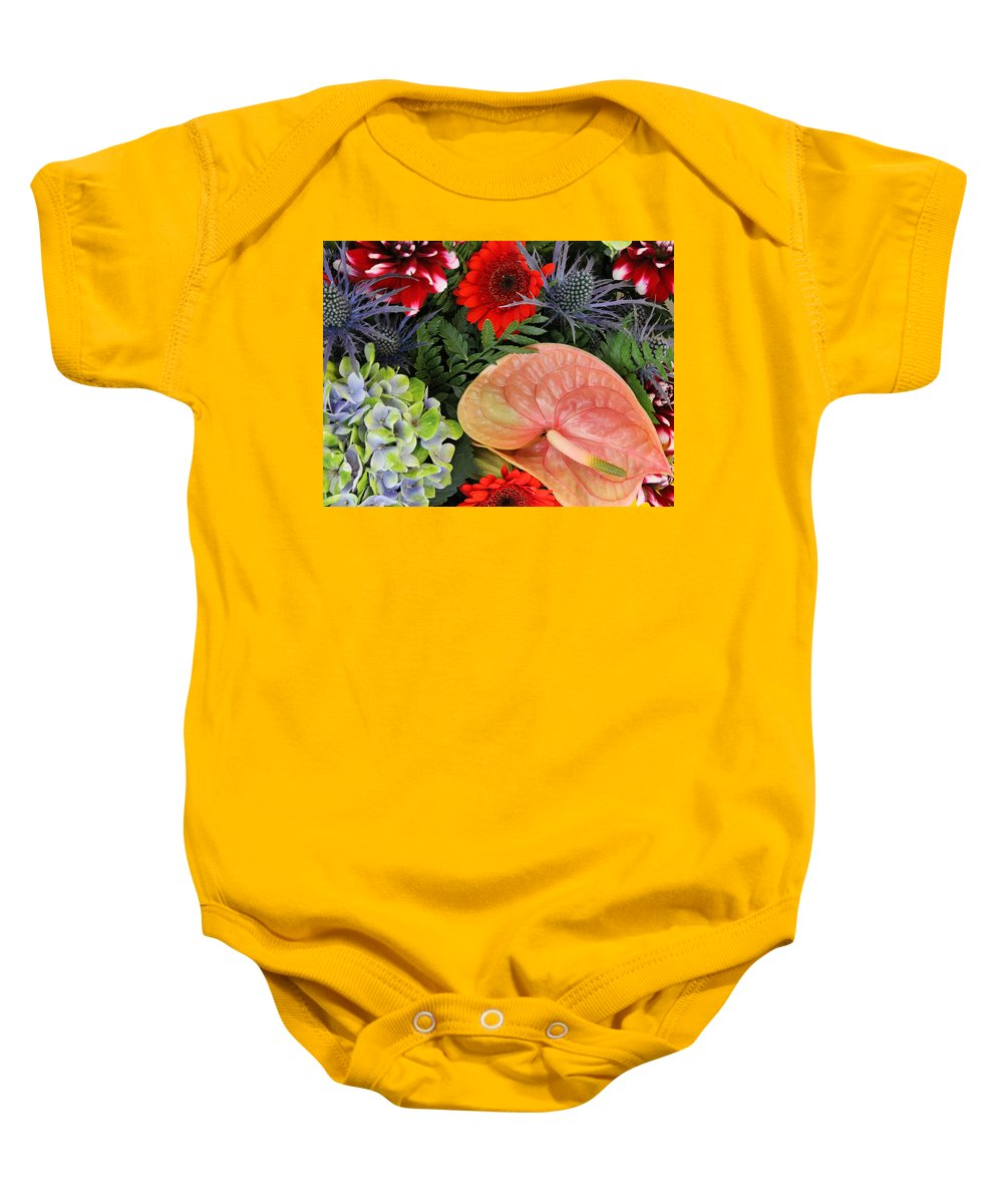 Flower Flowers Colorful Color Bouquets Bouquet Photograph Art Baby Onesie featuring the photograph Bouquet Of Flowers by Steve K