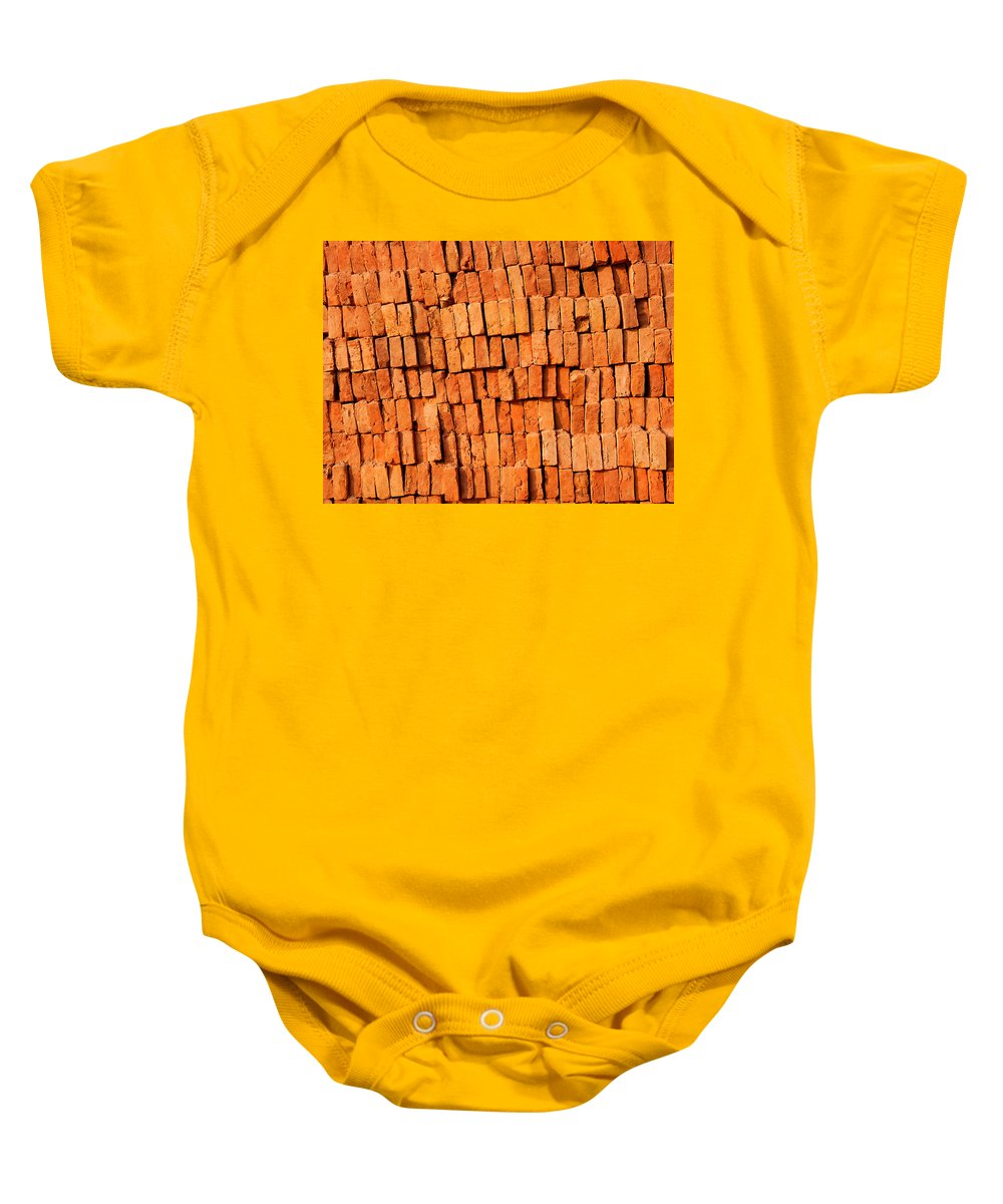 Brick Baby Onesie featuring the photograph Brick Stack by Dutourdumonde Photography