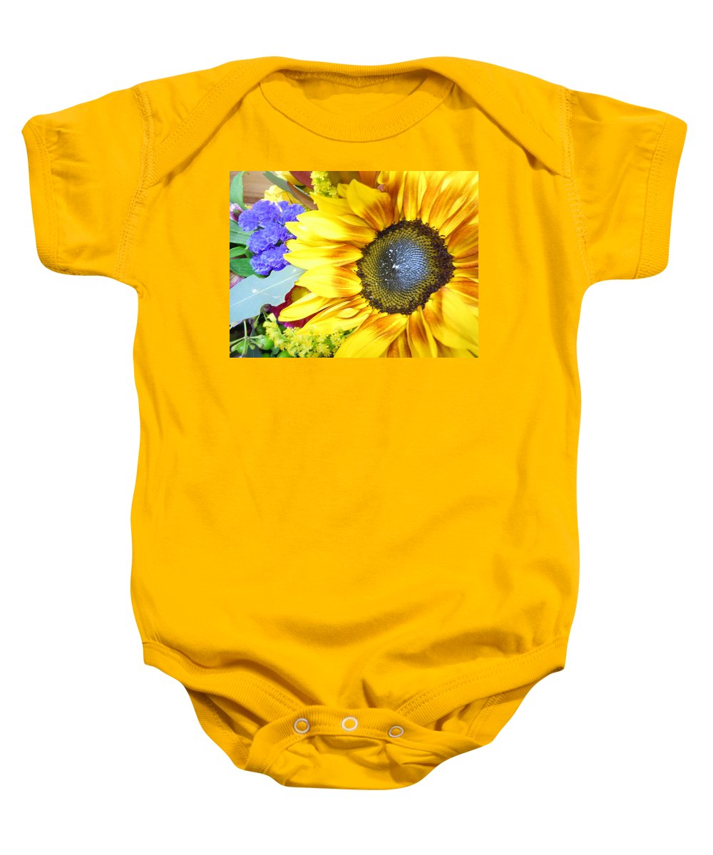 Sunflower Baby Onesie featuring the photograph Brillante by John Wilson