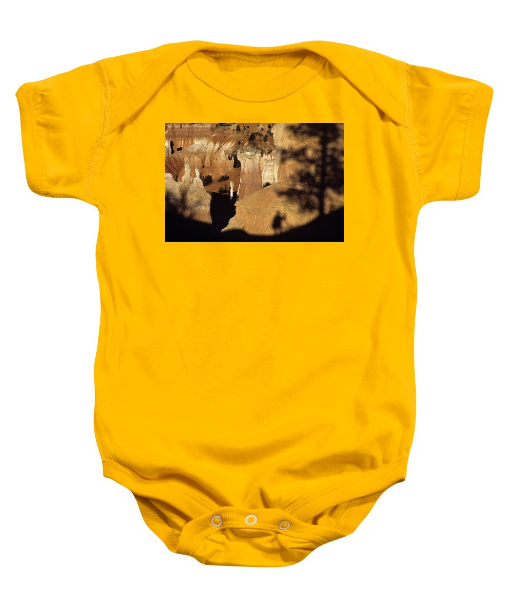 Landscape Baby Onesie featuring the photograph Bryce Canyon National Park Hoodo Monolith Sunrise From Sunrise P by Jim Corwin