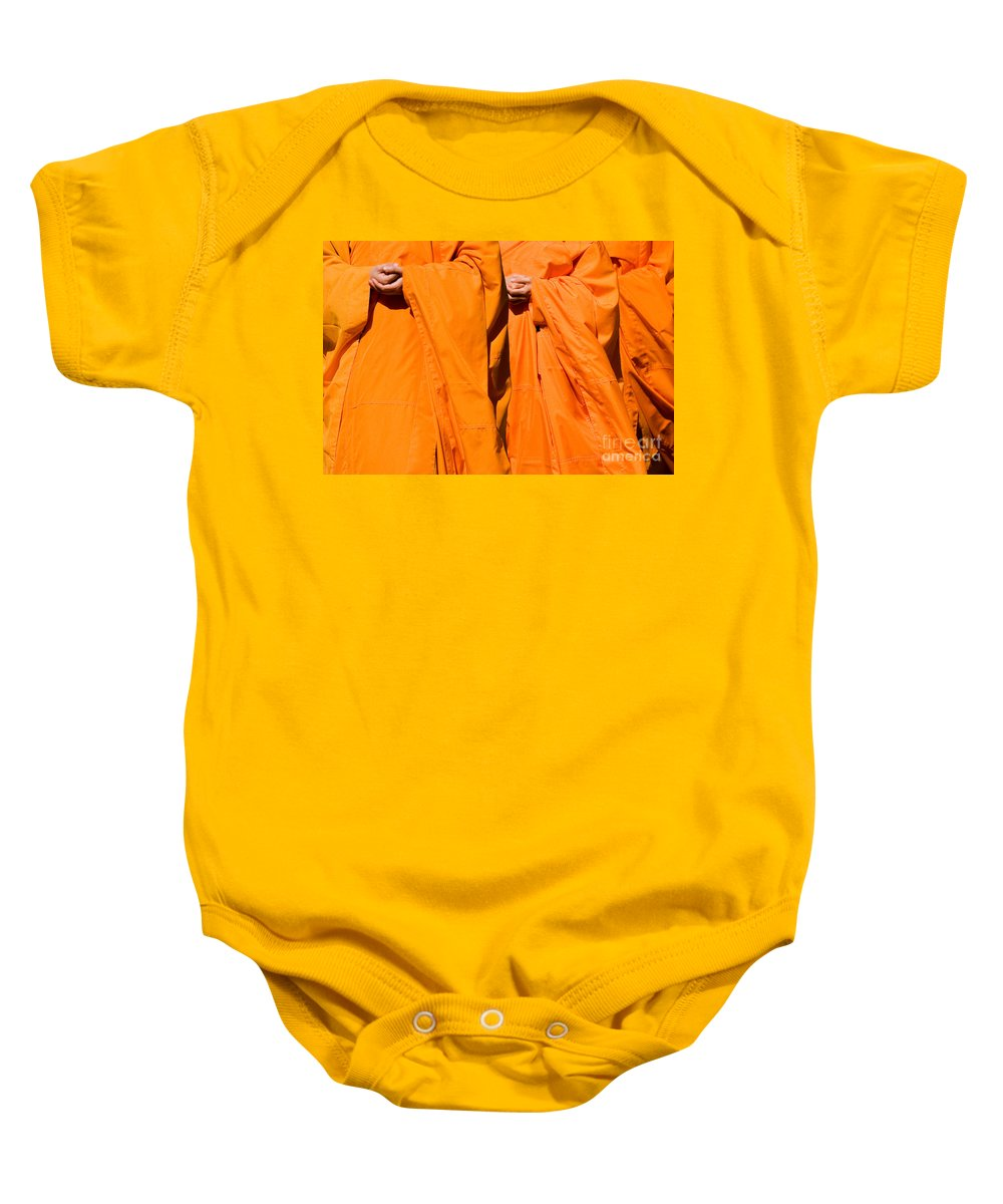 Buddhist Monk Baby Onesie featuring the photograph Buddhist Monks 02 by Rick Piper Photography