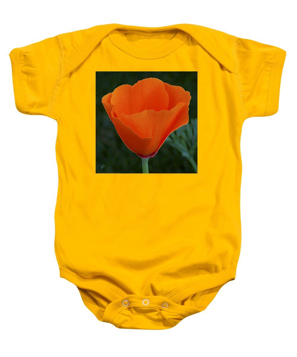 Wild Poppy Baby Onesie featuring the photograph California Poppy Spectacular by Ben and Raisa Gertsberg