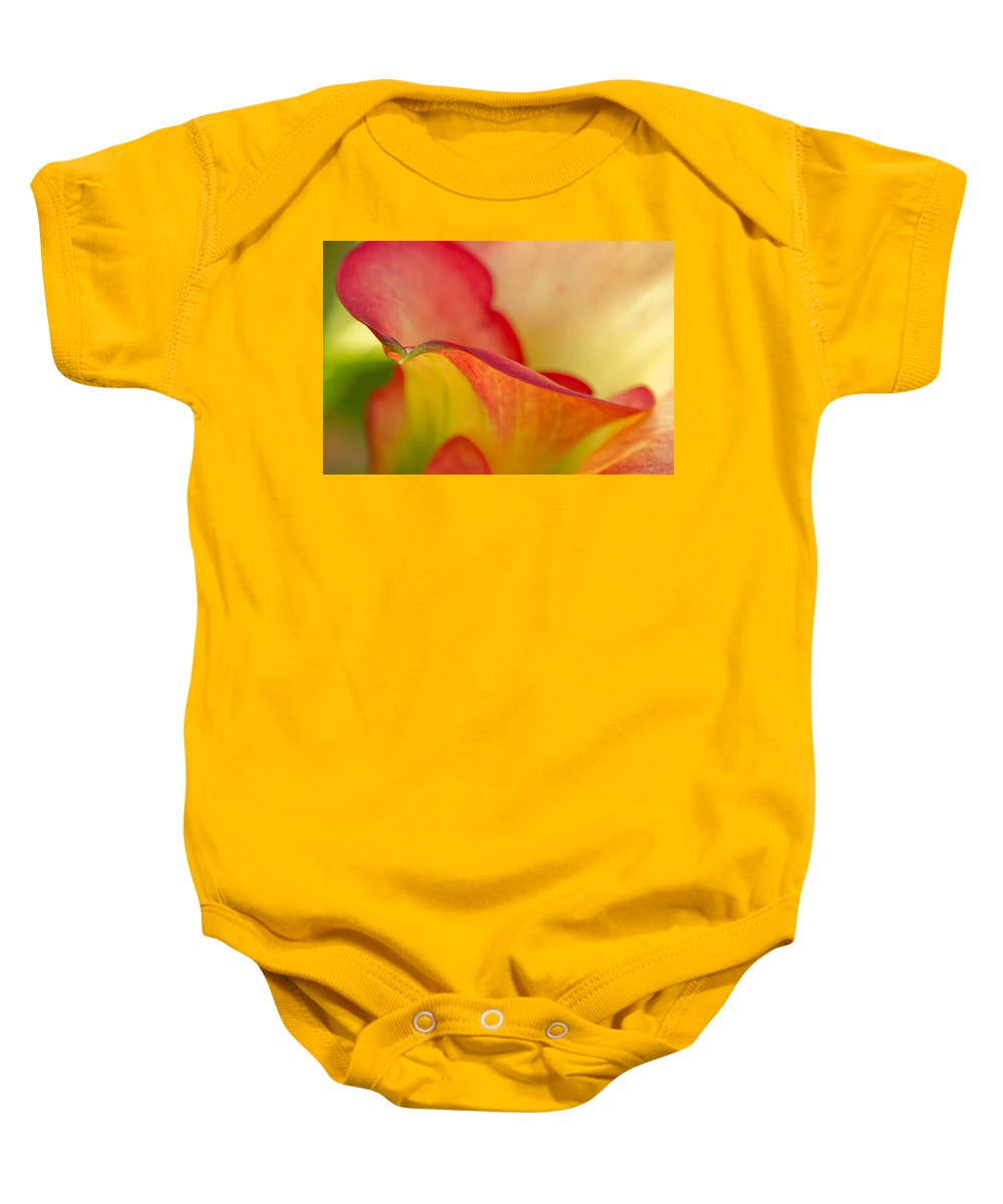 Calla Lily Baby Onesie featuring the photograph Calla Curves by Lindley Johnson