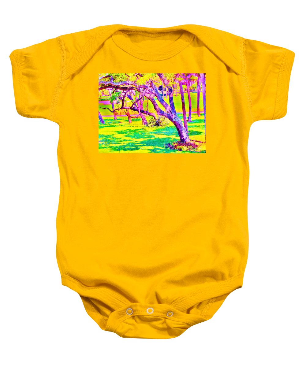 Keri West Baby Onesie featuring the photograph Candied Golf Game by Keri West
