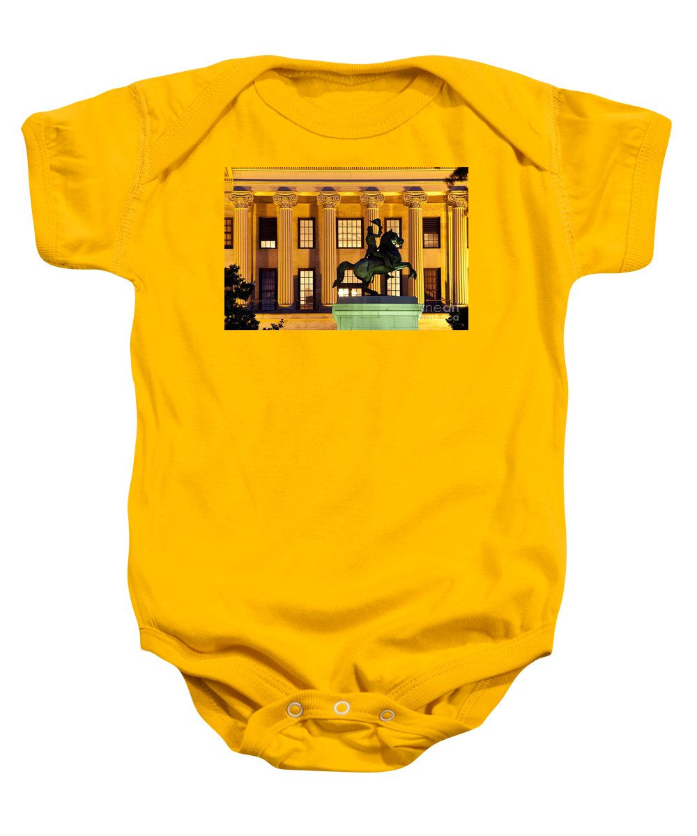 Andrew Jackson Baby Onesie featuring the photograph Capital Building by Brian Jannsen