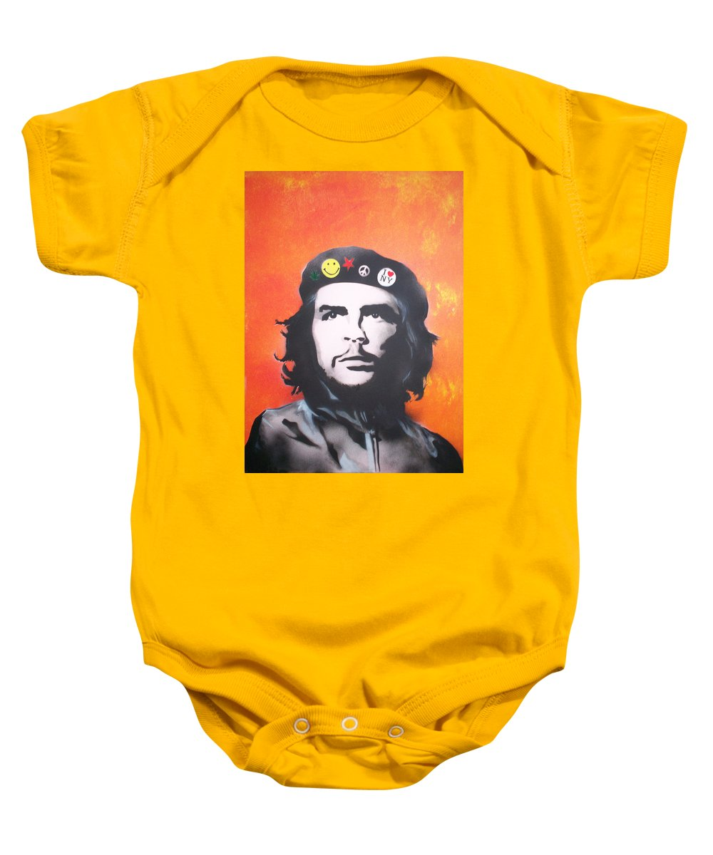 Che Baby Onesie featuring the painting Che by Gary Hogben