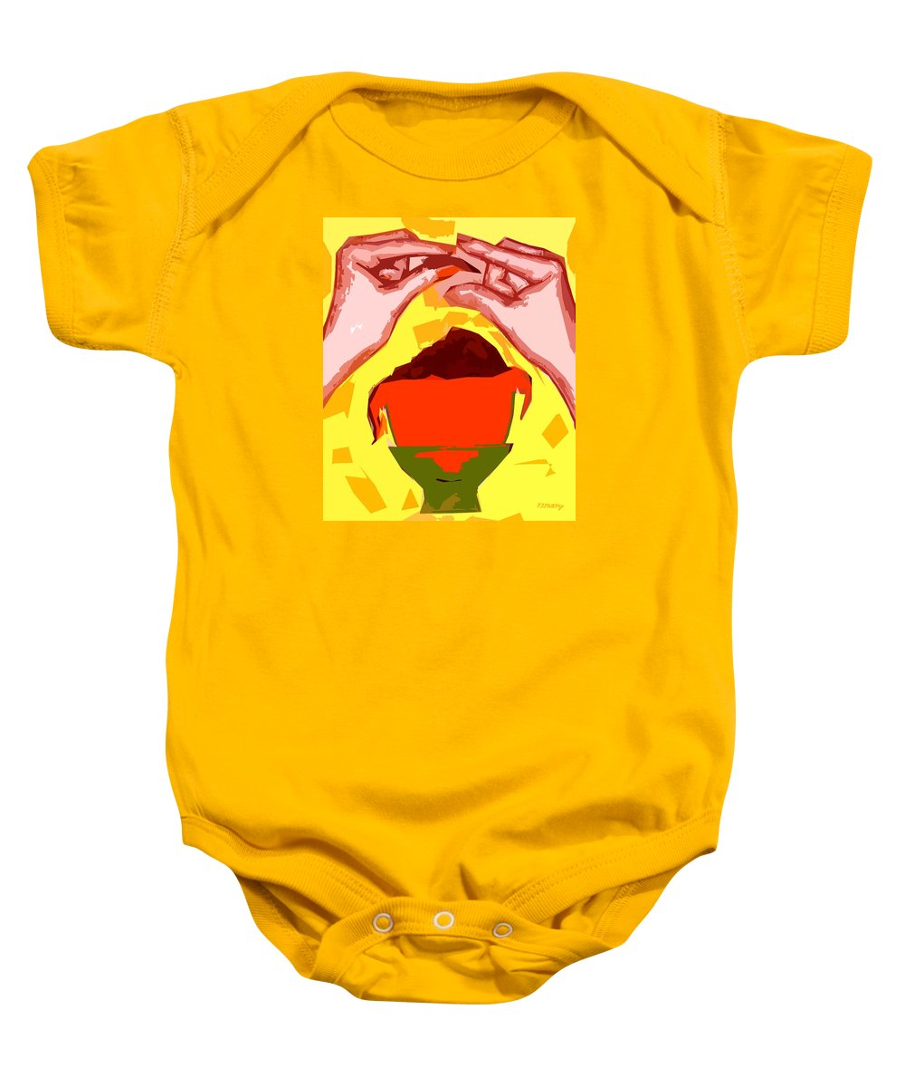 Easter Egg Baby Onesie featuring the painting Chocolate Easter Egg by Patrick J Murphy