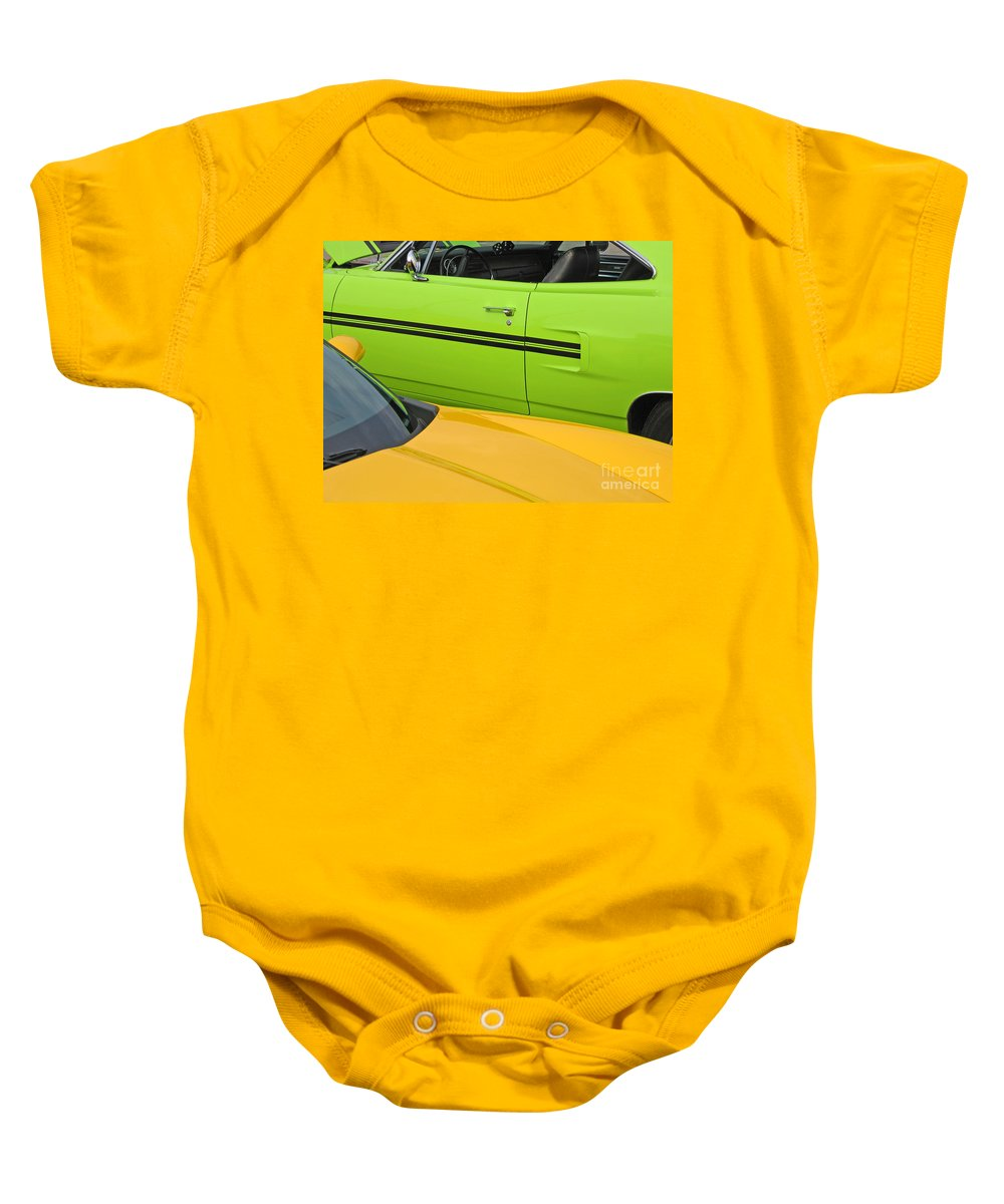 Car Baby Onesie featuring the photograph Classy Classics by Ann Horn