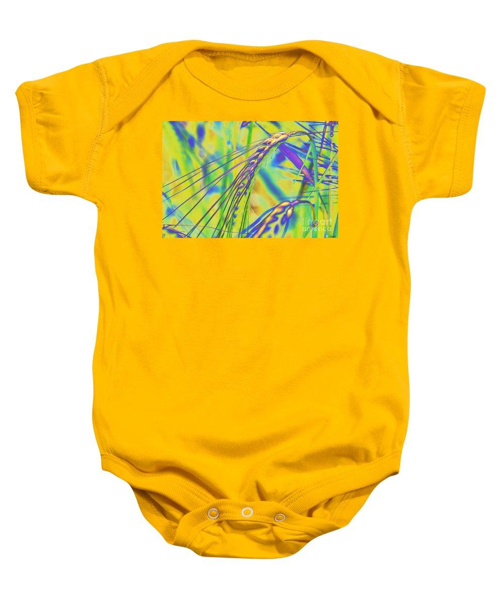 Corn Baby Onesie featuring the digital art Corn by Carol Lynch