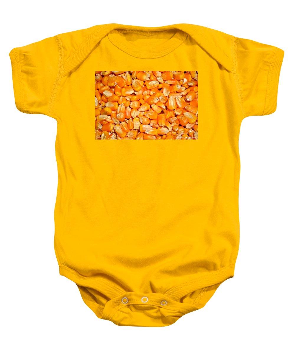 Corn Baby Onesie featuring the photograph Corn by Tara Potts